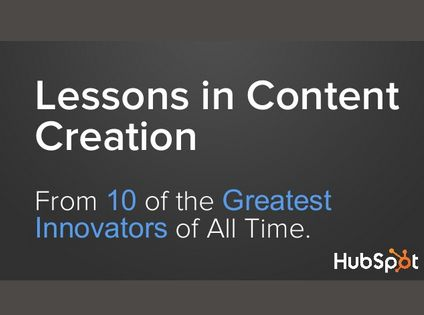 valuable lessons in content creation